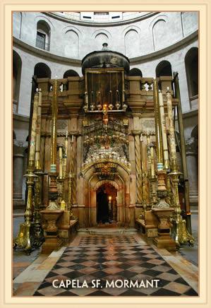 Capela Invierii Domnului Hristos din cadrul Bisericii Sfantului Mormant,Ierusalim