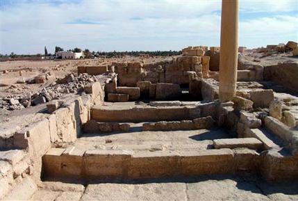 Mideast Syria Archeology Church