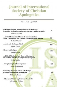 Journal of the International Society of Christian Apologetics