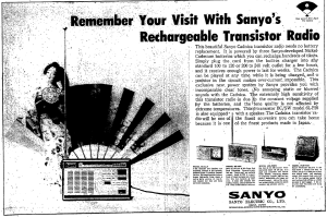 When athletes weren't training or competing, they were buying transistor radios, cameras and motion picture cameras. Here is an ad from the October 10, 1964 Japan Times.