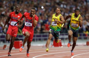 Tyson Gay_second from left_Hassan Ammar AP
