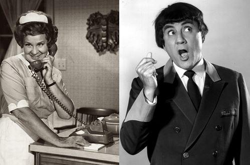 Shirley Booth as Hazel and Bill Dana as José Jiménez in two popular prime time programs on NBC.