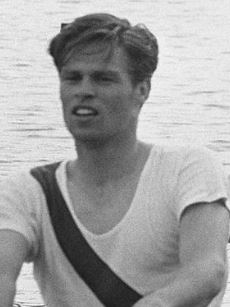 Bjorn Haslov, member of the gold medal winning Danish coxless fours