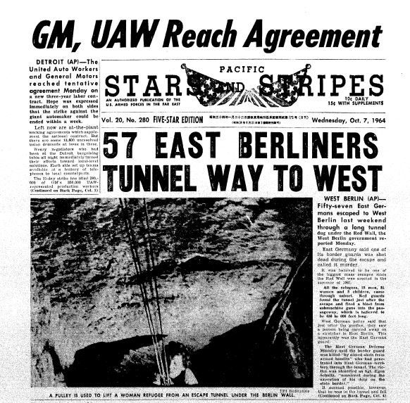 Stars and Stripes Front Page_October 7, 1964