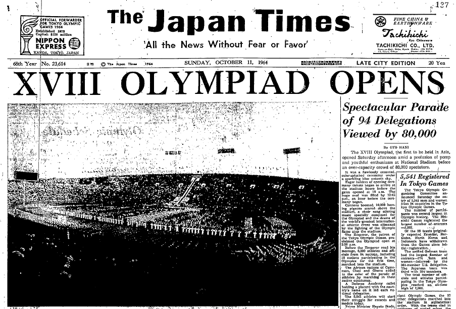 Japan Times, October 11, 1964