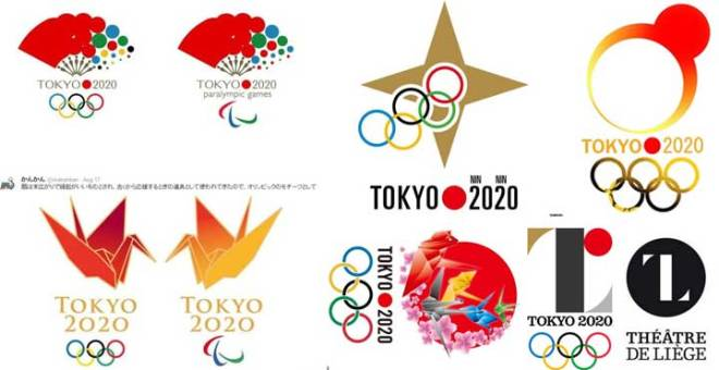 A few 2020 Tokyo Olympic design ideas already bandied about on the internet.