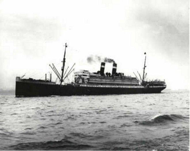 The Princess Matoika on the Atlantic in 1917