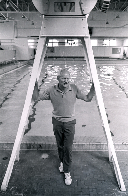 Urho Saari at the Urho Saari Swim Stadium