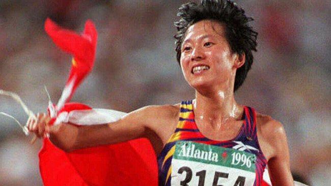 Wang Junxia at the Atlanta Summer Games