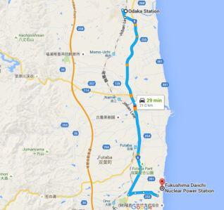 Dai-ichi Nuclear Power Station and Odaka
