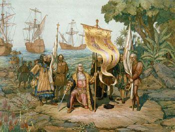Christoper Columbus in his Third Voyage