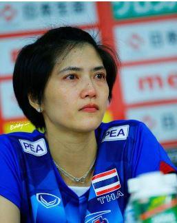 Thai Captain Pleumjit Thinkaow in tears