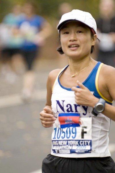 Dr Nary Ly of Cambodia at the New York City Marathon