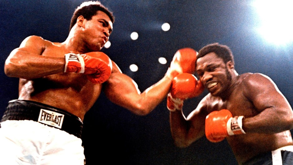 Muhammad Ali and Joe Frazier in The Thrilla in Manila
