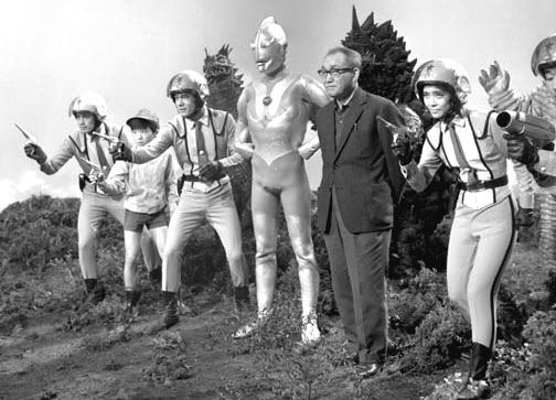 Eiji Tsbarya and his Ultraman creations