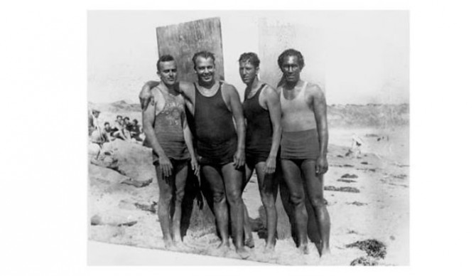 Vultee Hale Herwig and Kahanamoku after the rescue