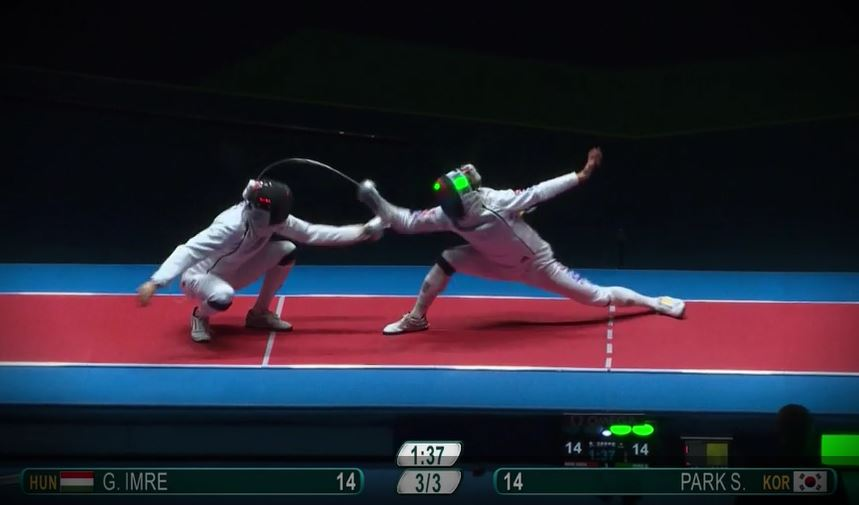 Imre outpointed by Park in epee finals