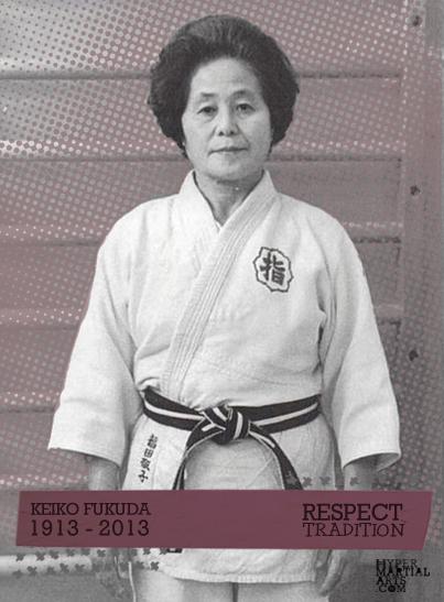Keiko Fukuda_white striped black belt