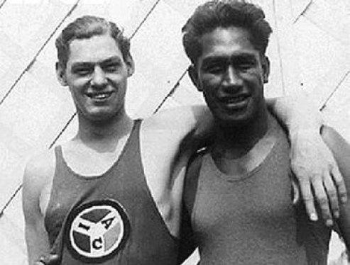 Johnny Weissmuller and Duke Kahanamoku