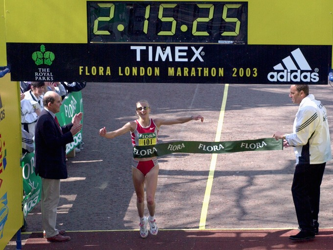 Paula Radcliffe's world record setting marathon time
