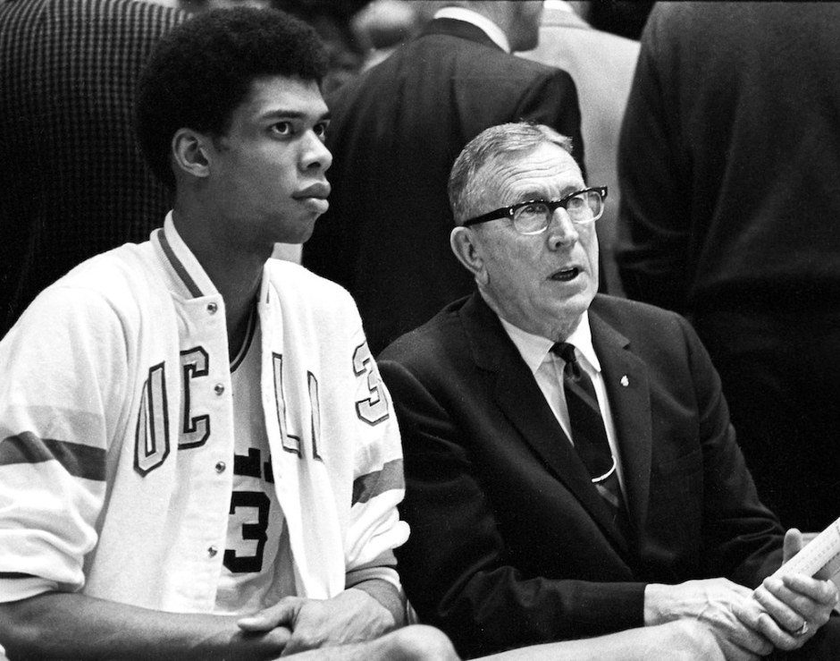 Lew Alcindor and Coach John Wooden