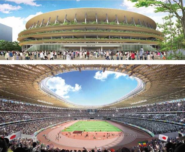 Olympic National Stadium design_Kengo Kuma