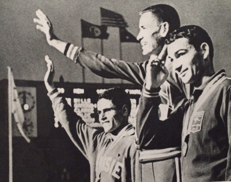 Billy Mills on the Podium_Tokyo Olympiad 1964_Kyodo News Agency