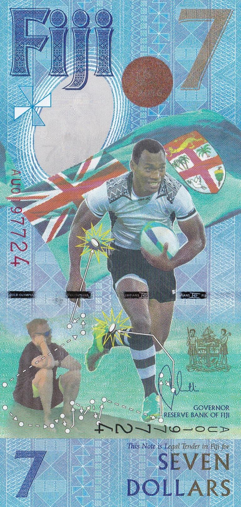 Fiji Seven Dollar Bill_Front