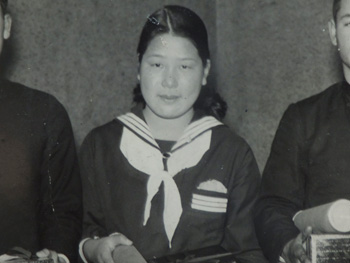 Hideko Maehata in high school