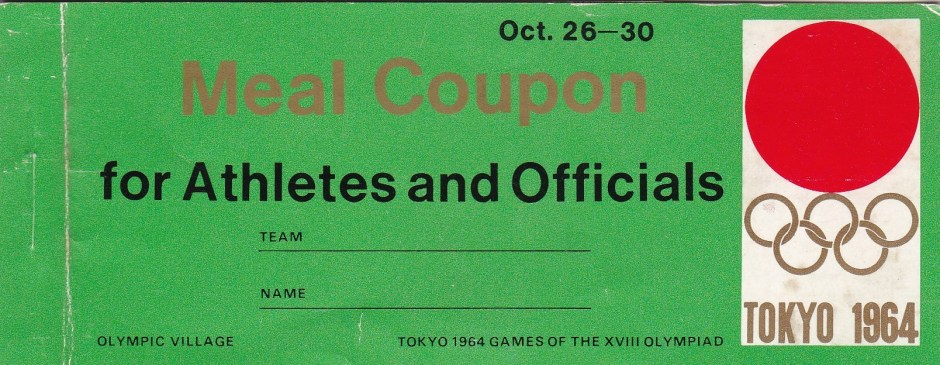 Olympic Village Meal Coupon Cover