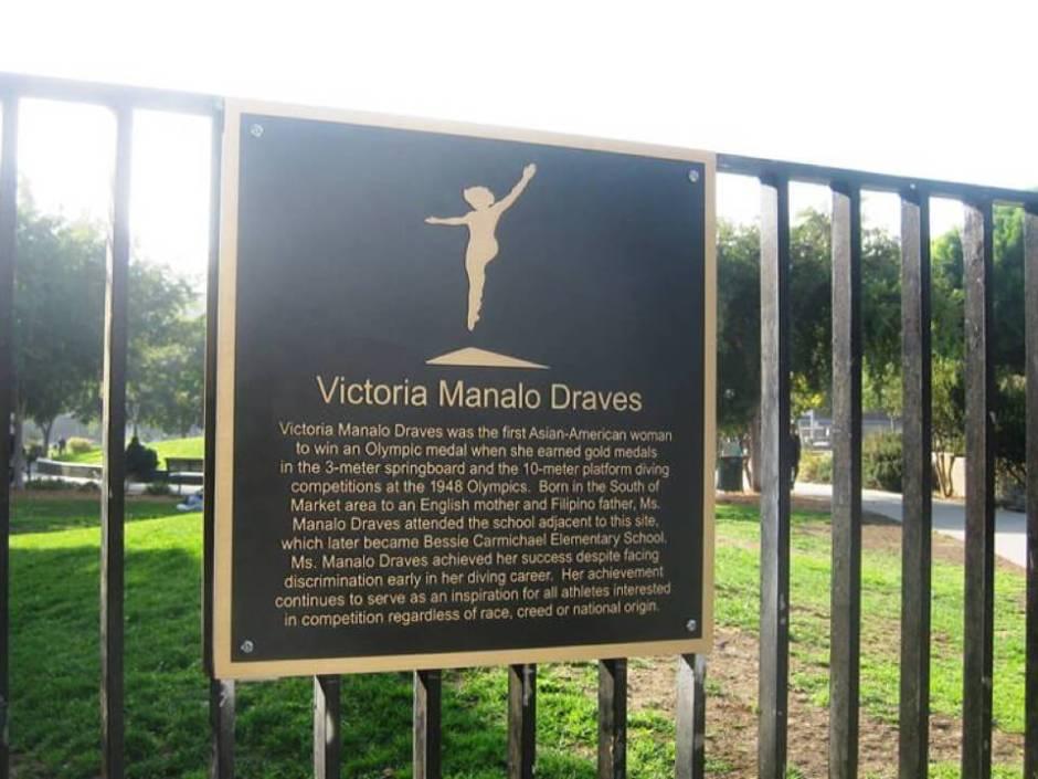 Victoria Manalo Draves Park Plaque