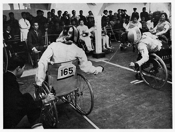 1964 Paralympics_wheelchair fencing