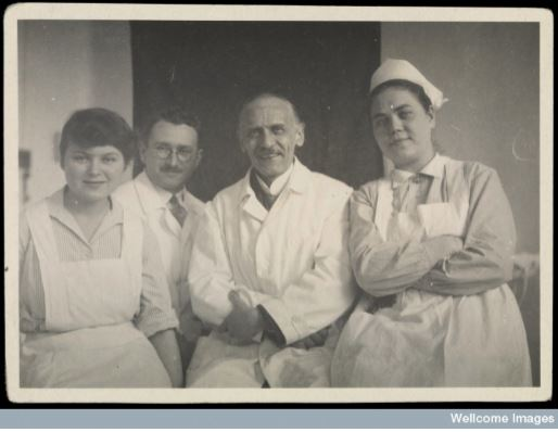 Dr Ludwig Guttmann 2nd from left