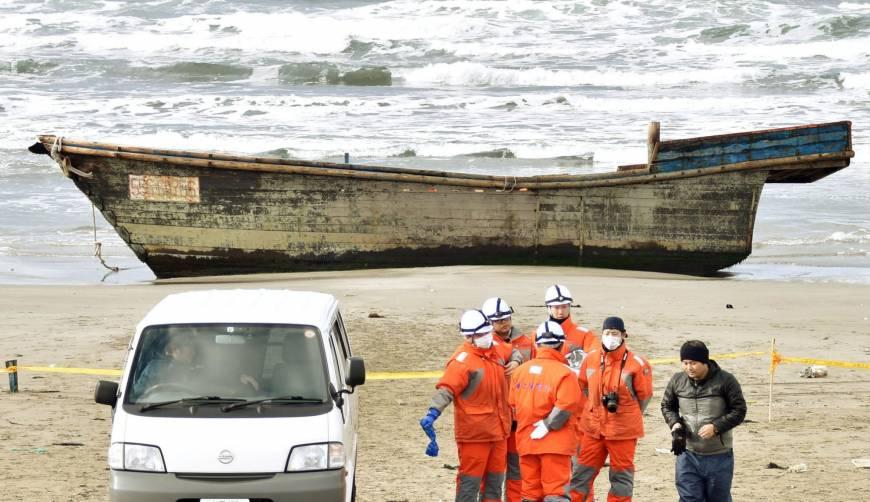 North Korean boat washes up in Akita