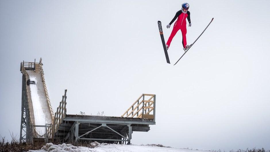 Ski Jumper Sarah Hendrickson Takes Flight on the Sleeping Giant