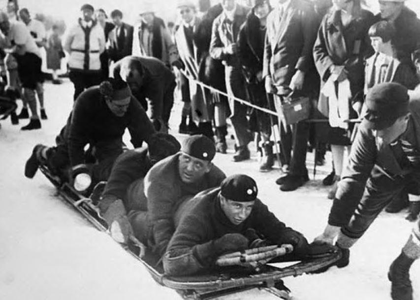 Billy Fiske in the 1928 Winter Olympics