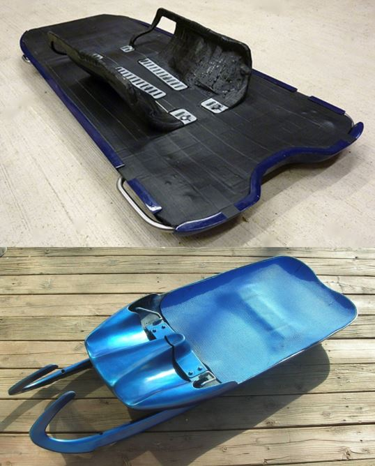 skeleton sled vs luge sled