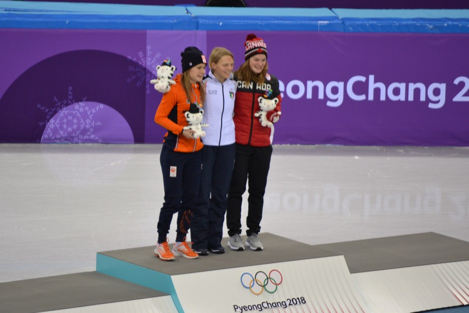 Medalists 500 meter short track speed skating_Fontana