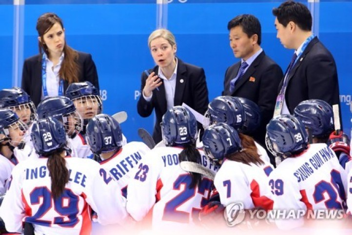 Sarah Murray during the historic Korea-Swiss match