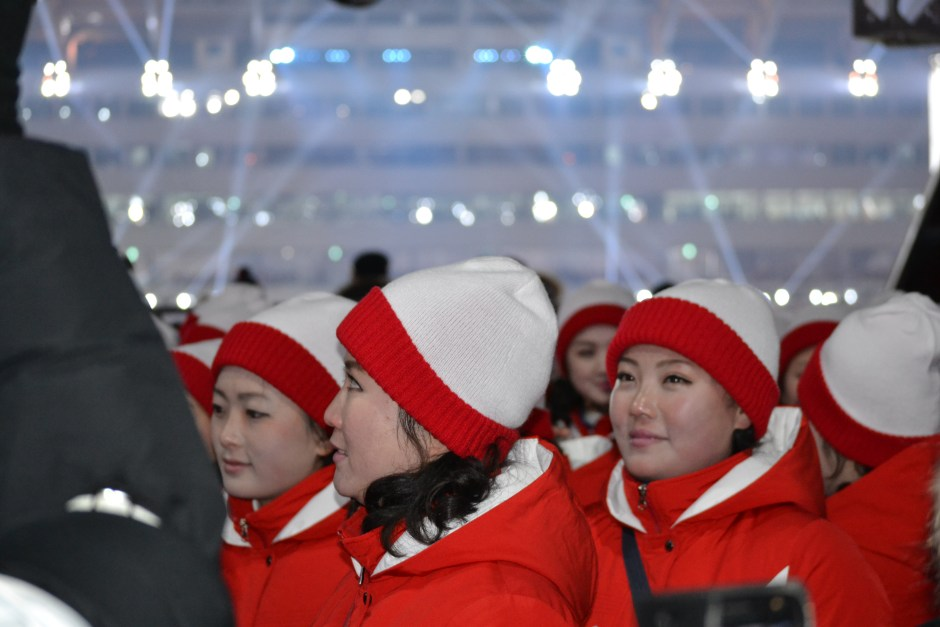 Chance Meeting with the North Korean Cheering Squad