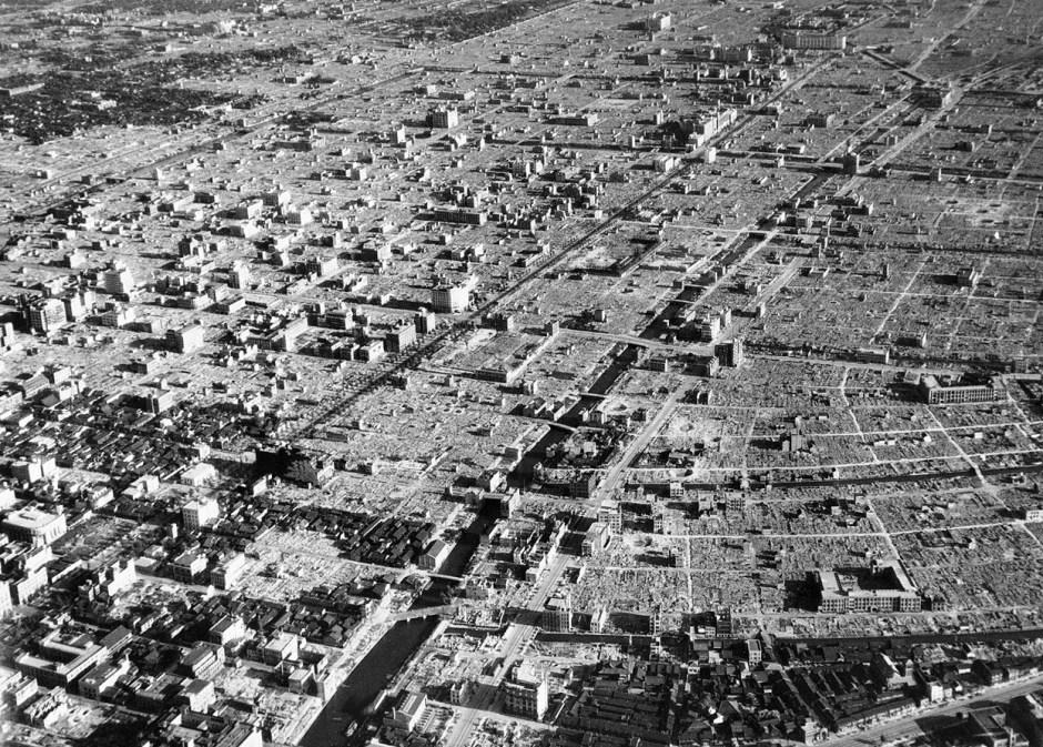 Tokyo firebombed 1945