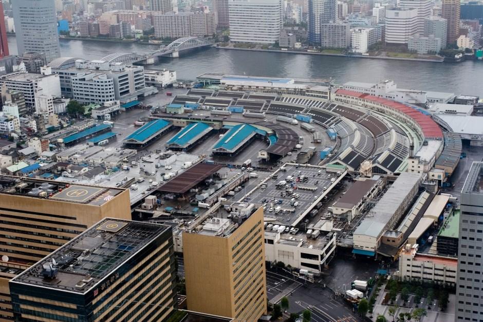 Tsukiji Market aerial