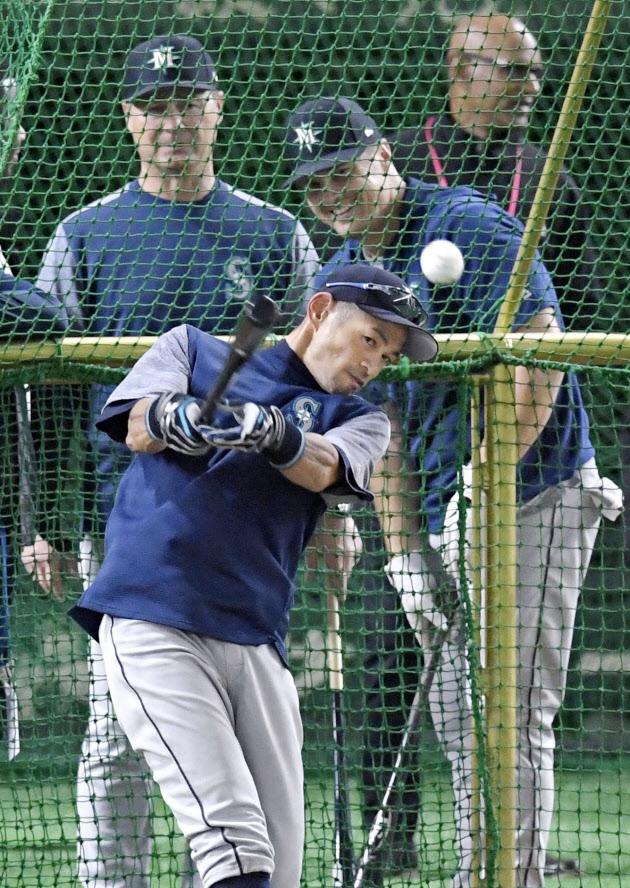 Ichiro Suzuki batting practice