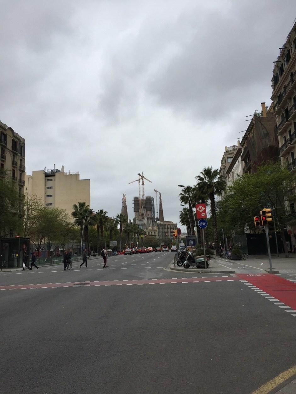 Barcelona road to Segrada Familia