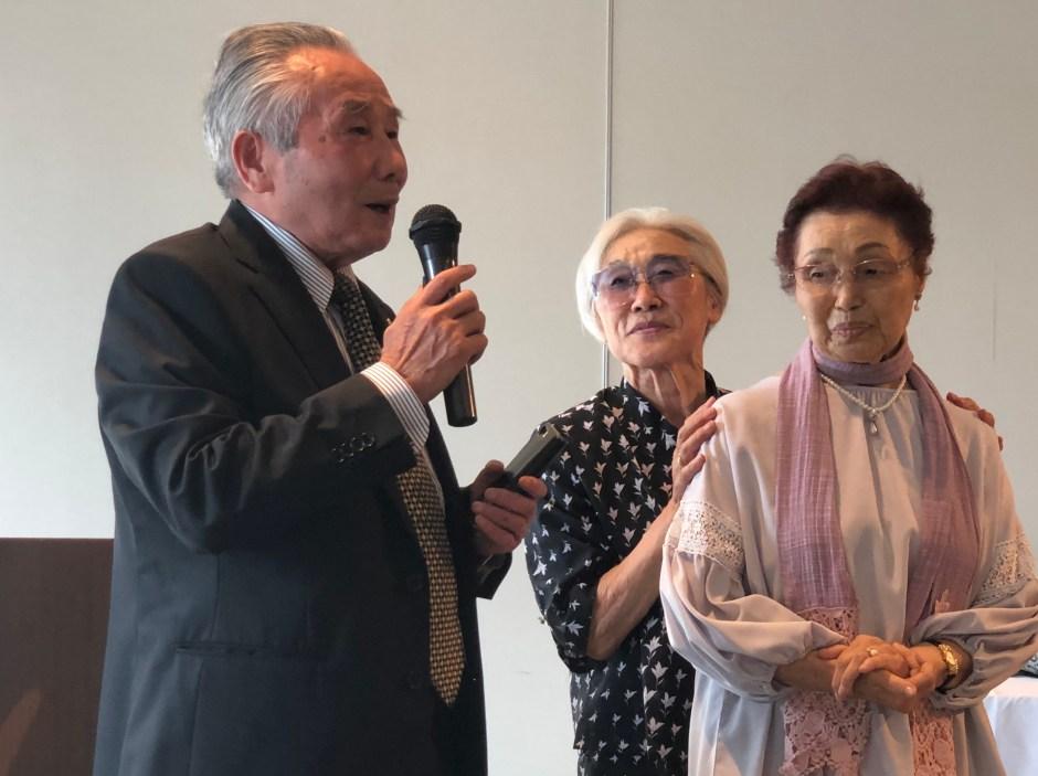 Shuji Tsurumi, Gingko Abukawa Chiba and Toshiko Shirasu Aihara