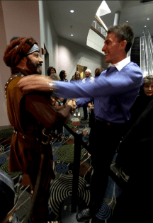 Gary Young Meeting a Fan at Convention