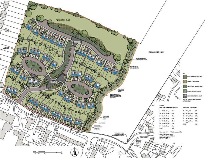 Heathcott Road Leicester Whittier Road Allotments site plan