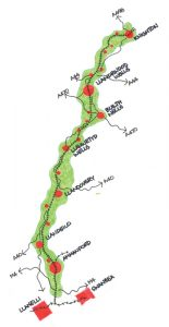 Heart of Wales map