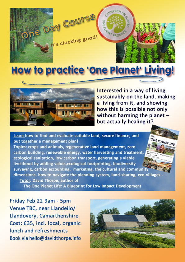 One Planet Living Course poster