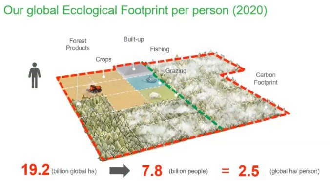 Ecological footprint purpose explanation and breakdown